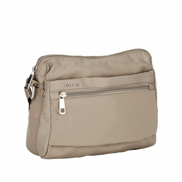 Loubs Schultertasche Nylon Beige, Farbe: beige, Manufacturer: Loubs, Dimensions (cm): 25.0x18.0x9.0, Image 2 of 3
