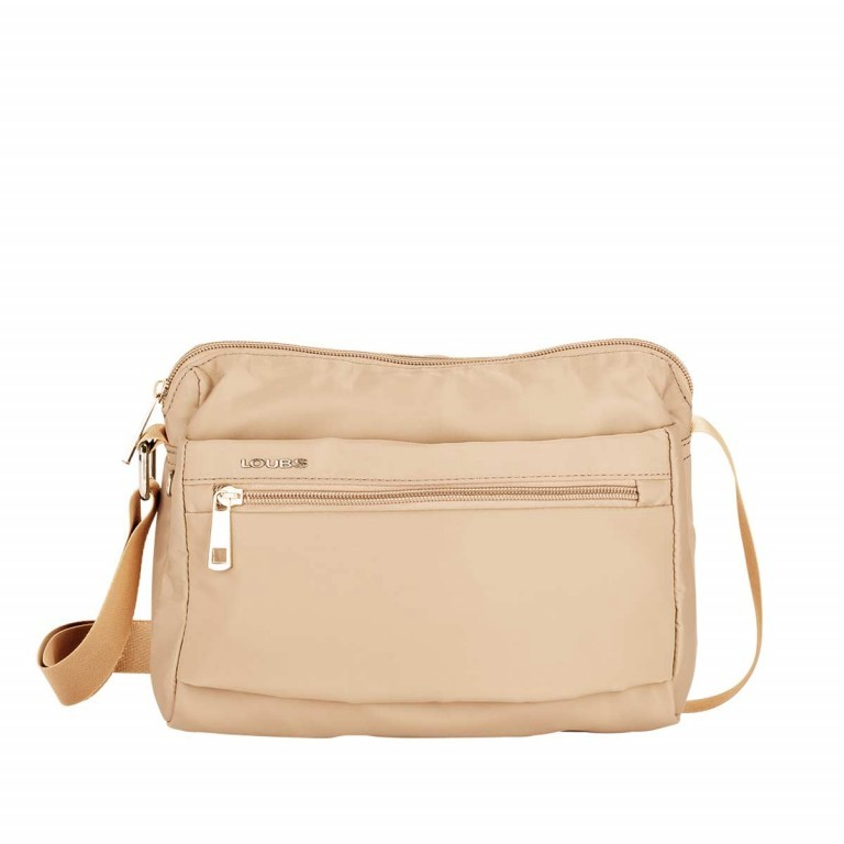 Loubs Schultertasche Nylon Beige, Farbe: beige, Manufacturer: Loubs, Dimensions (cm): 25.0x18.0x9.0, Image 1 of 3