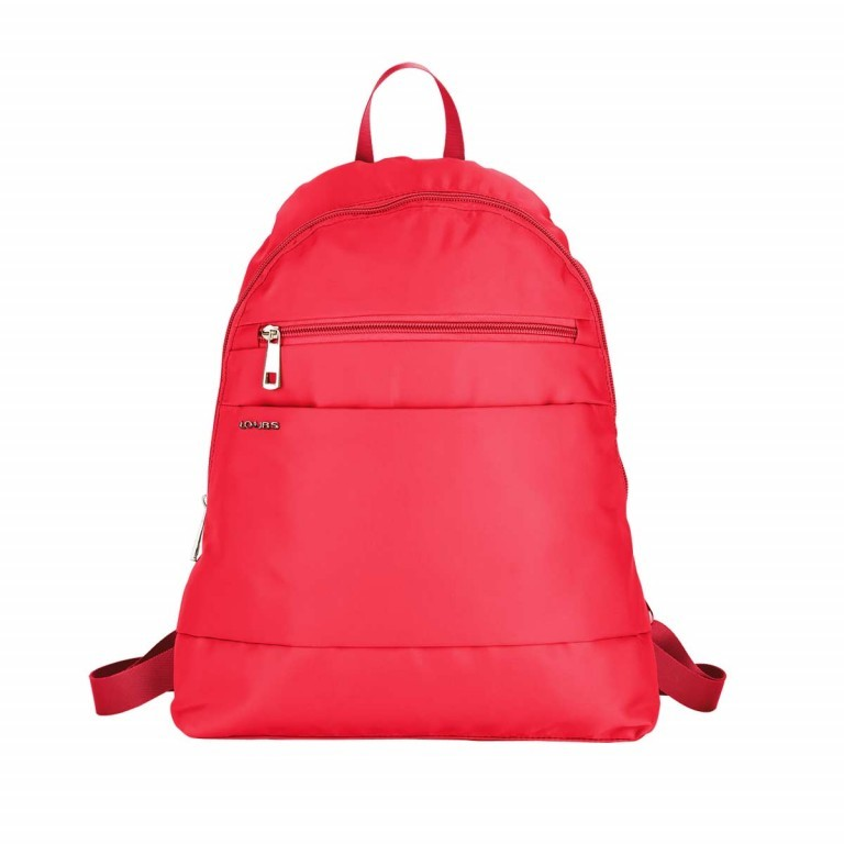 Loubs City Rucksack Nylon Rot, Farbe: rot/weinrot, Manufacturer: Loubs, Dimensions (cm): 33.0x36.0x8.0, Image 1 of 3