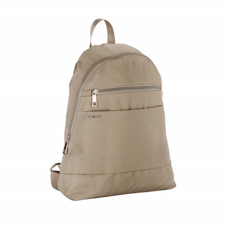 Loubs City Rucksack Nylon Beige, Farbe: beige, Manufacturer: Loubs, Dimensions (cm): 33.0x36.0x8.0, Image 2 of 3