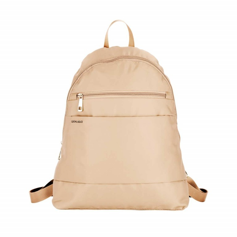 Loubs City Rucksack Nylon Beige, Farbe: beige, Manufacturer: Loubs, Dimensions (cm): 33.0x36.0x8.0, Image 1 of 3