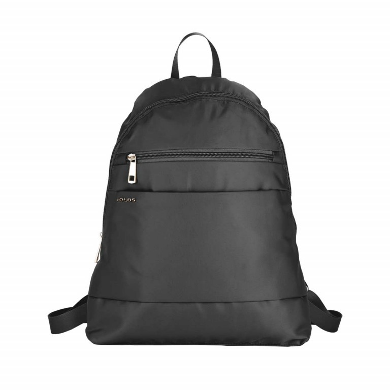 Loubs City Rucksack Nylon Schwarz, Farbe: schwarz, Manufacturer: Loubs, Dimensions (cm): 33.0x36.0x8.0, Image 1 of 3