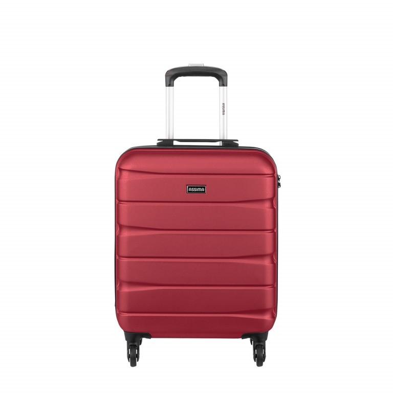 ASSIMA München Trolley 54cm Rot, Farbe: rot/weinrot, Marke: Assima, Abmessungen in cm: 40.0x54.0x20.0, Bild 1 von 5