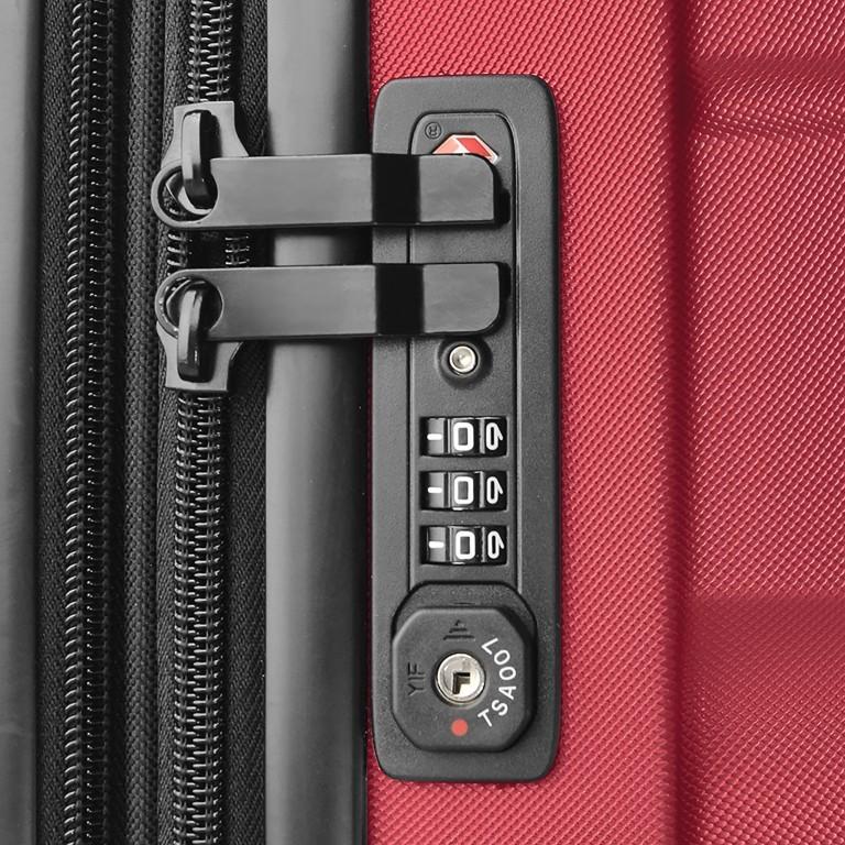 ASSIMA München Trolley 54cm Rot, Farbe: rot/weinrot, Marke: Assima, Abmessungen in cm: 40.0x54.0x20.0, Bild 3 von 5