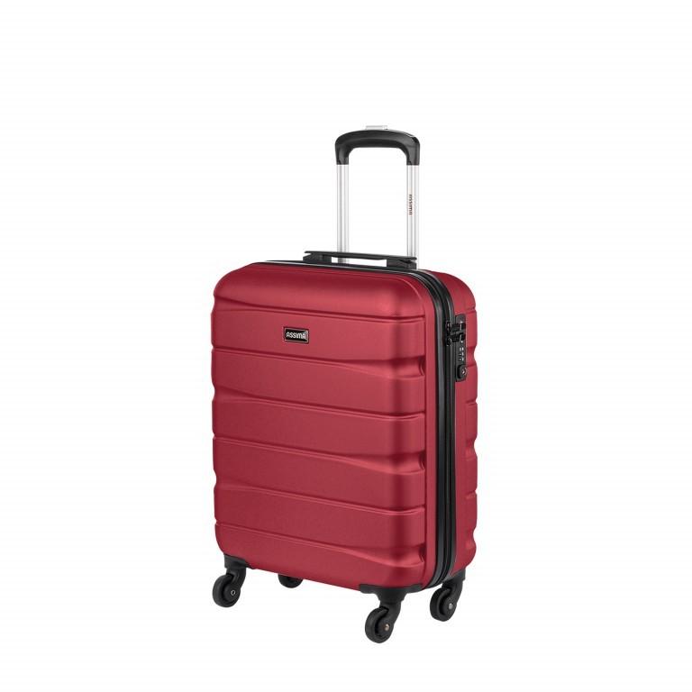 ASSIMA München Trolley 54cm Rot, Farbe: rot/weinrot, Marke: Assima, Abmessungen in cm: 40.0x54.0x20.0, Bild 2 von 5