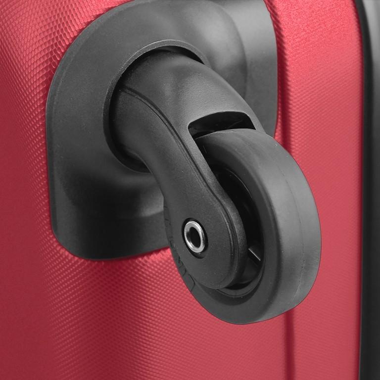 ASSIMA München Trolley 54cm Rot, Farbe: rot/weinrot, Marke: Assima, Abmessungen in cm: 40.0x54.0x20.0, Bild 5 von 5