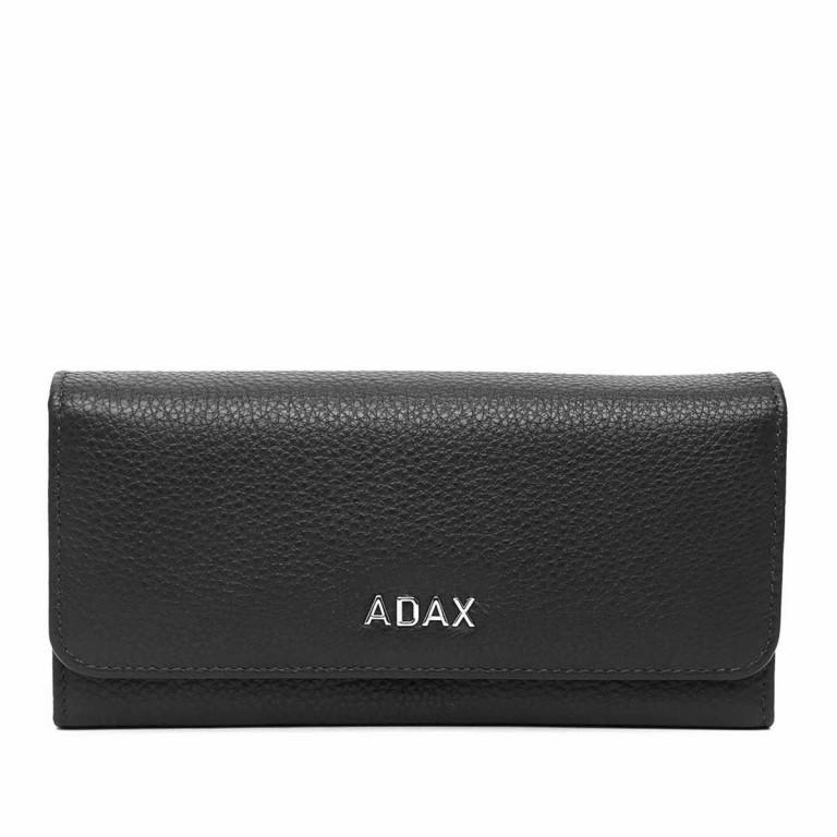 Adax Cormorano 447092 Große Börse Black, Farbe: schwarz, Marke: Adax, EAN: 5705483161136, Abmessungen in cm: 19.0x9.0x3.0, Bild 1 von 2