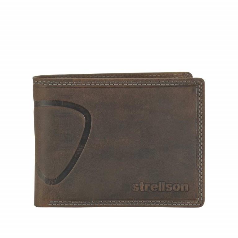 Strellson Baker Street Billfold H7 Scheintasche Leder Dark Brown, Farbe: braun, Marke: Strellson, EAN: 4006053044424, Abmessungen in cm: 12.5x9.5x2.0, Bild 1 von 2