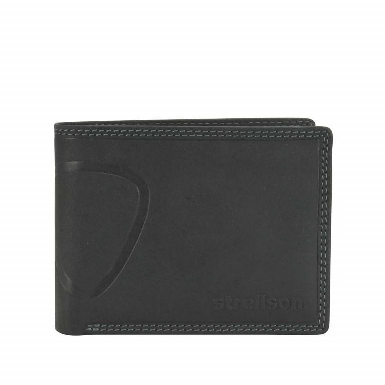 Strellson Baker Street Billfold H7 Scheintasche Leder Black, Farbe: schwarz, Marke: Strellson, EAN: 4006053044417, Abmessungen in cm: 12.5x9.5x2.0, Bild 1 von 2