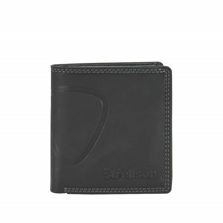 Strellson Baker Street Billfold Q7 Quadratische Herrenbörse Leder Schwarz, Farbe: schwarz, Marke: Strellson, EAN: 4006053044509, Abmessungen in cm: 9.0x10.0x2.0, Bild 1 von 2