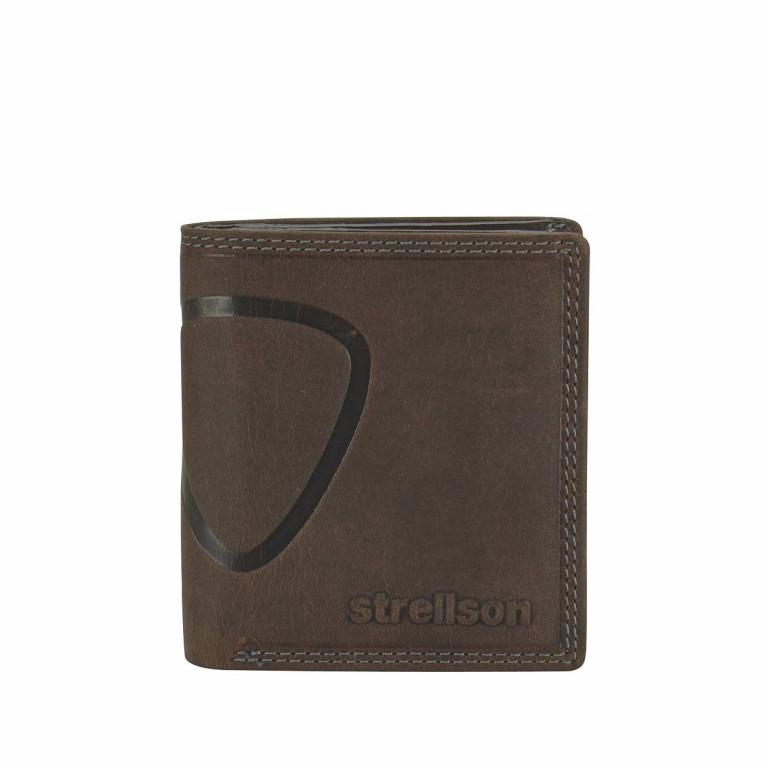Strellson Baker Street Billfold Q7 Quadratische Herrenbörse Leder Dunkelbraun, Farbe: braun, Marke: Strellson, EAN: 4006053044516, Abmessungen in cm: 9.0x10.0x2.0, Bild 1 von 2