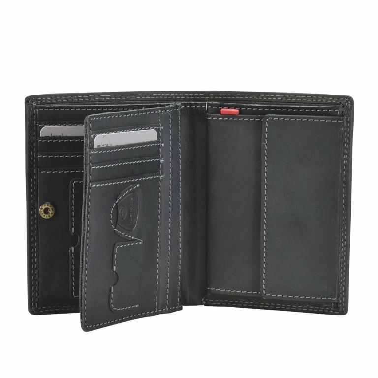 Strellson Baker Street Billfold V8 Kombibörse Leder Black, Farbe: schwarz, Marke: Strellson, EAN: 4006053044448, Abmessungen in cm: 10.0x13.0x3.0, Bild 2 von 2