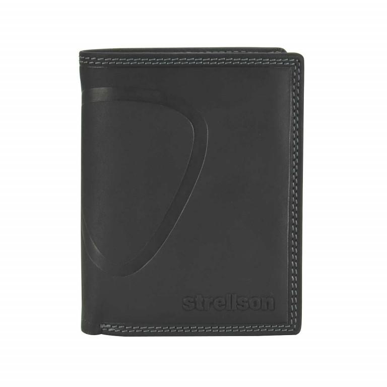 Strellson Baker Street Billfold V8 Kombibörse Leder Black, Farbe: schwarz, Marke: Strellson, EAN: 4006053044448, Abmessungen in cm: 10.0x13.0x3.0, Bild 1 von 2