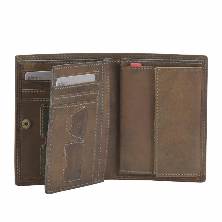 Strellson Baker Street Billfold V8 Kombibörse Leder Dark Brown, Farbe: braun, Marke: Strellson, EAN: 4006053044455, Abmessungen in cm: 10.0x13.0x3.0, Bild 2 von 2