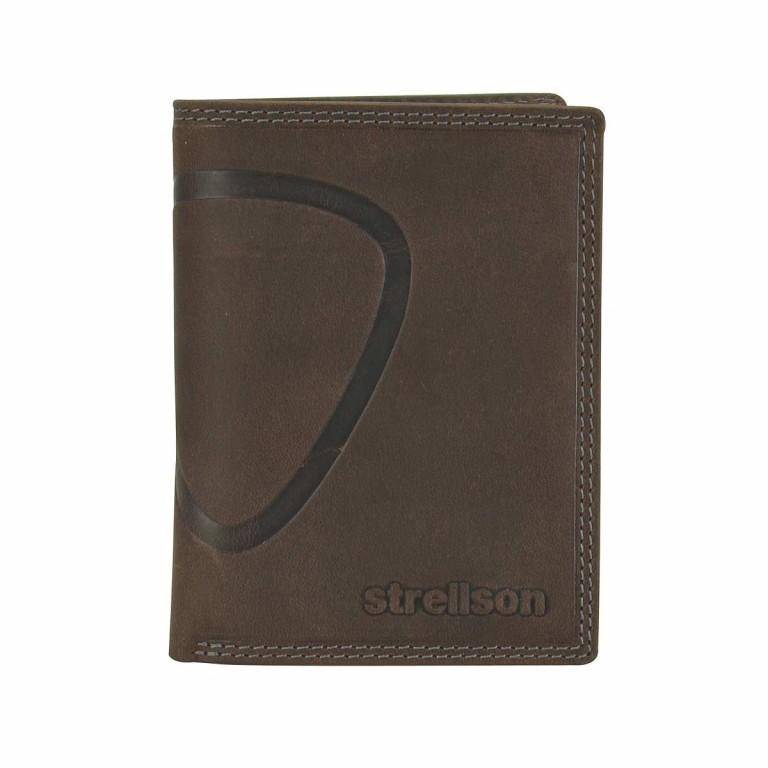 Strellson Baker Street Billfold V8 Kombibörse Leder Dark Brown, Farbe: braun, Marke: Strellson, EAN: 4006053044455, Abmessungen in cm: 10.0x13.0x3.0, Bild 1 von 2