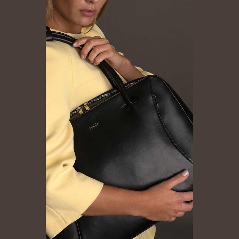 Socha Business Bag Black Swan, Farbe: schwarz, Marke: Socha, EAN: 4029276048222, Abmessungen in cm: 43.5x32.5x9.5, Bild 5 von 5