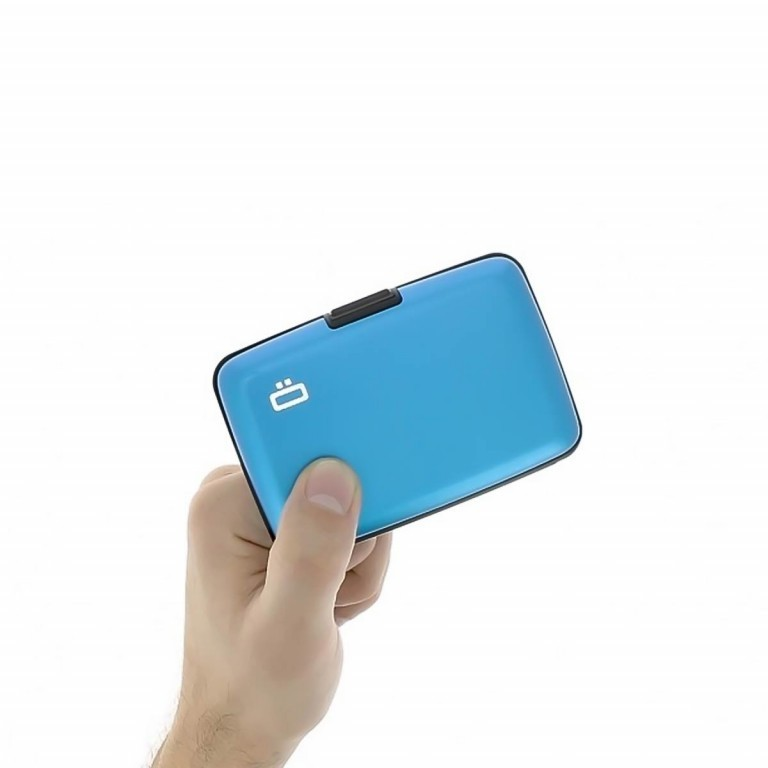 ÖGON Card-Case Stockholm Blue, Farbe: blau/petrol, Manufacturer: Ögon, Dimensions (cm): 10.9x7.2x1.9, Image 2 of 7