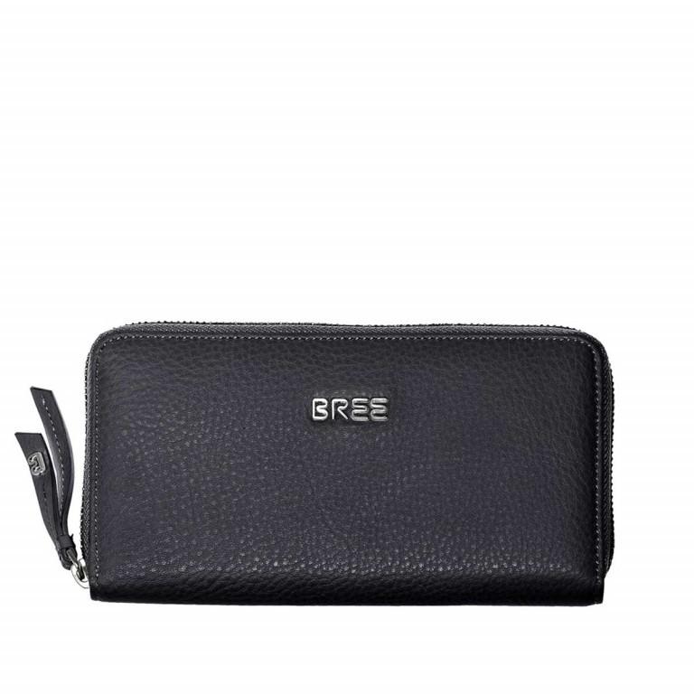 BREE Nola 101 Damenbörse Leder Schwarz, Farbe: schwarz, Marke: Bree, Abmessungen in cm: 20.0x10.0x2.0, Bild 1 von 2
