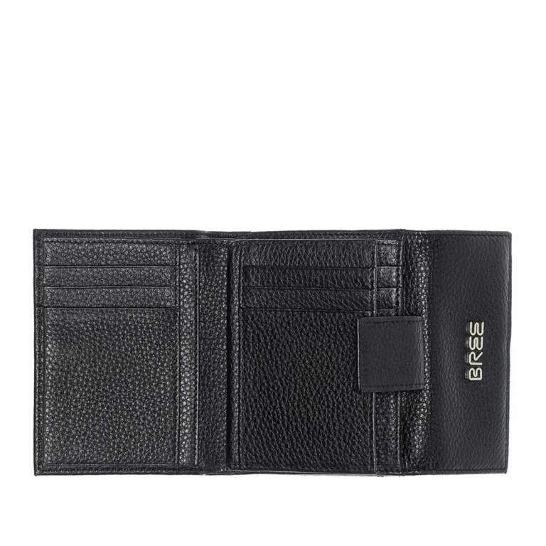 BREE Nola 104 Damenbörse Leder  Schwarz, Farbe: schwarz, Marke: Bree, Abmessungen in cm: 12.0x9.0x3.0, Bild 2 von 2
