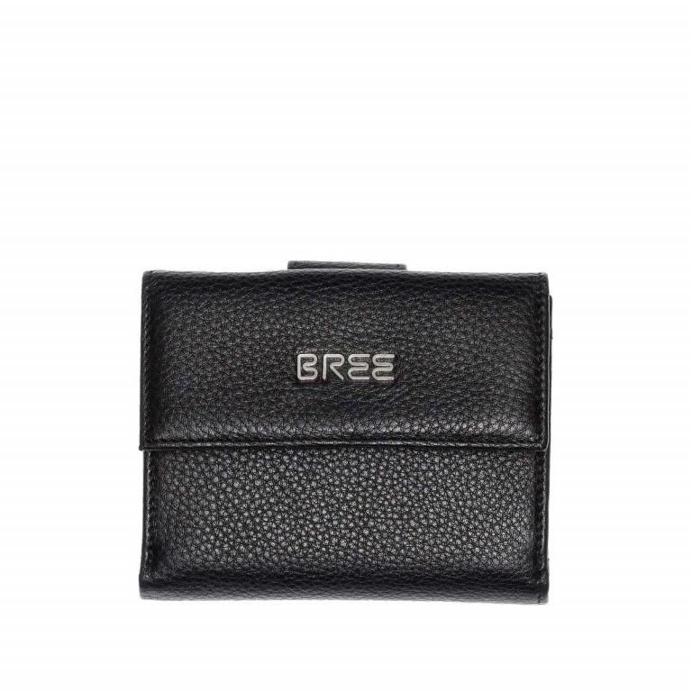 BREE Nola 104 Damenbörse Leder  Schwarz, Farbe: schwarz, Marke: Bree, Abmessungen in cm: 12.0x9.0x3.0, Bild 1 von 2
