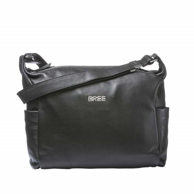 BREE Nola 3 Beutel Leder Schwarz, Farbe: schwarz, Marke: Bree, Abmessungen in cm: 35.0x28.0x10.0, Bild 1 von 2