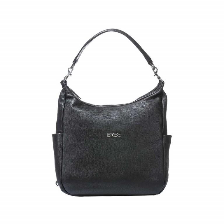 BREE Nola 6 Damenrucksack Leder Schwarz, Farbe: schwarz, Marke: Bree, Abmessungen in cm: 32.0x23.0x10.0, Bild 2 von 2