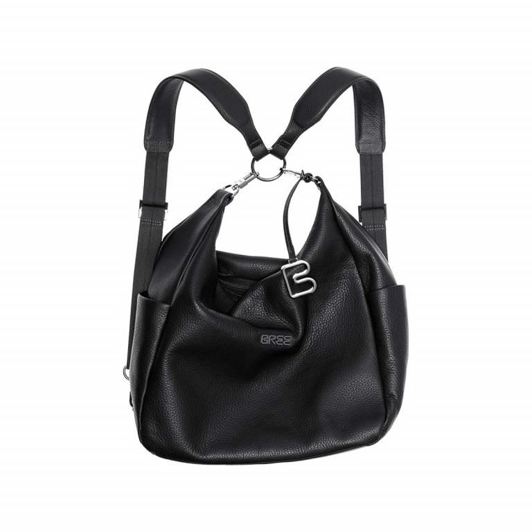 BREE Nola 6 Damenrucksack Leder Schwarz, Farbe: schwarz, Marke: Bree, Abmessungen in cm: 32.0x23.0x10.0, Bild 1 von 2