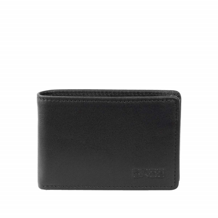 BREE Pocket 102 Mini-Geldbörse Leder Schwarz, Farbe: schwarz, Marke: Bree, Abmessungen in cm: 10.0x7.0x1.5, Bild 1 von 1