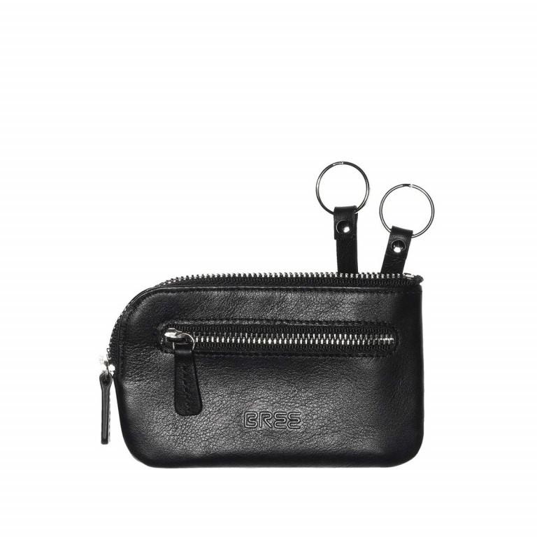BREE Pocket 105 Schlüsseletui Leder Schwarz, Farbe: schwarz, Marke: Bree, Abmessungen in cm: 12.0x7.5x0.5, Bild 1 von 1