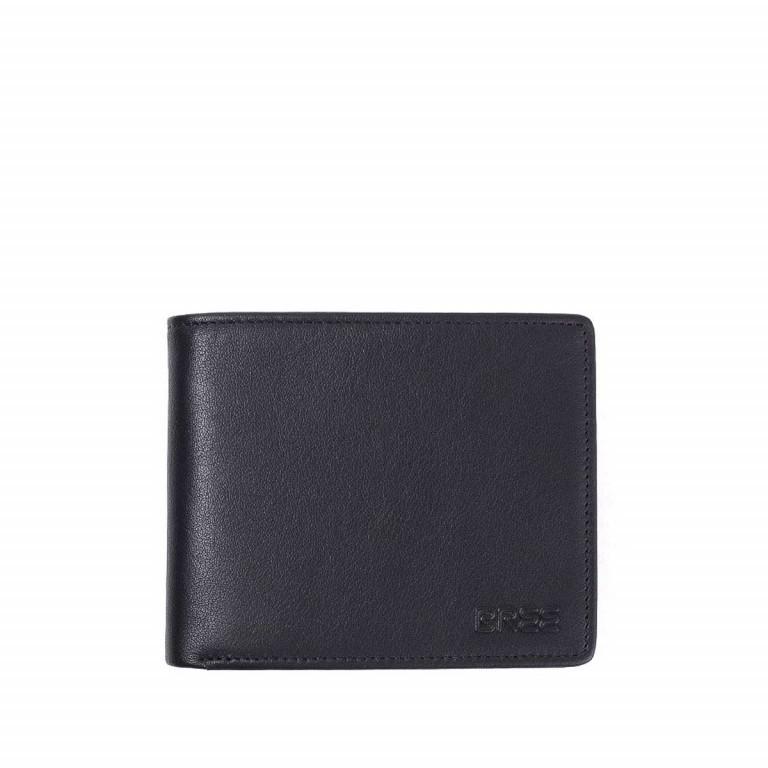 BREE Pocket 109 Geldbörse Scheintasche Leder Schwarz, Farbe: schwarz, Marke: Bree, Abmessungen in cm: 11.5x9.5x1.5, Bild 1 von 2