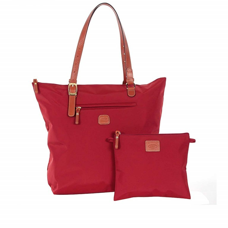 Brics X-Bag 3 in 1 Shopper L BXG35070 Red, Farbe: rot/weinrot, Marke: Brics, Abmessungen in cm: 35.0x34.0x15.0, Bild 2 von 5