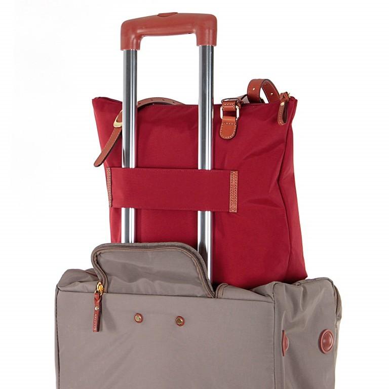 Brics X-Bag 3 in 1 Shopper M BXG35071 Rot, Farbe: rot/weinrot, Marke: Brics, Abmessungen in cm: 26.0x27.0x15.0, Bild 4 von 4