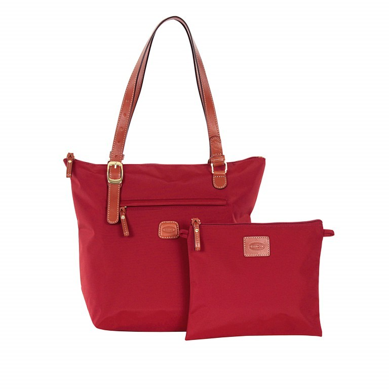 Brics X-Bag 3 in 1 Shopper M BXG35071 Rot, Farbe: rot/weinrot, Marke: Brics, Abmessungen in cm: 26.0x27.0x15.0, Bild 2 von 4