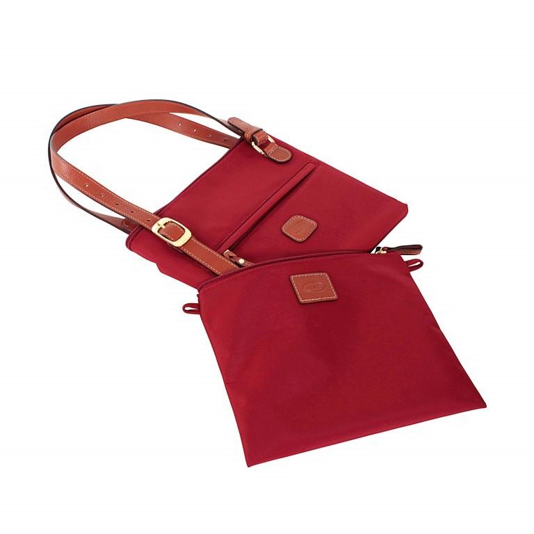 Brics X-Bag 3 in 1 Shopper M BXG35071 Rot, Farbe: rot/weinrot, Marke: Brics, Abmessungen in cm: 26.0x27.0x15.0, Bild 3 von 4