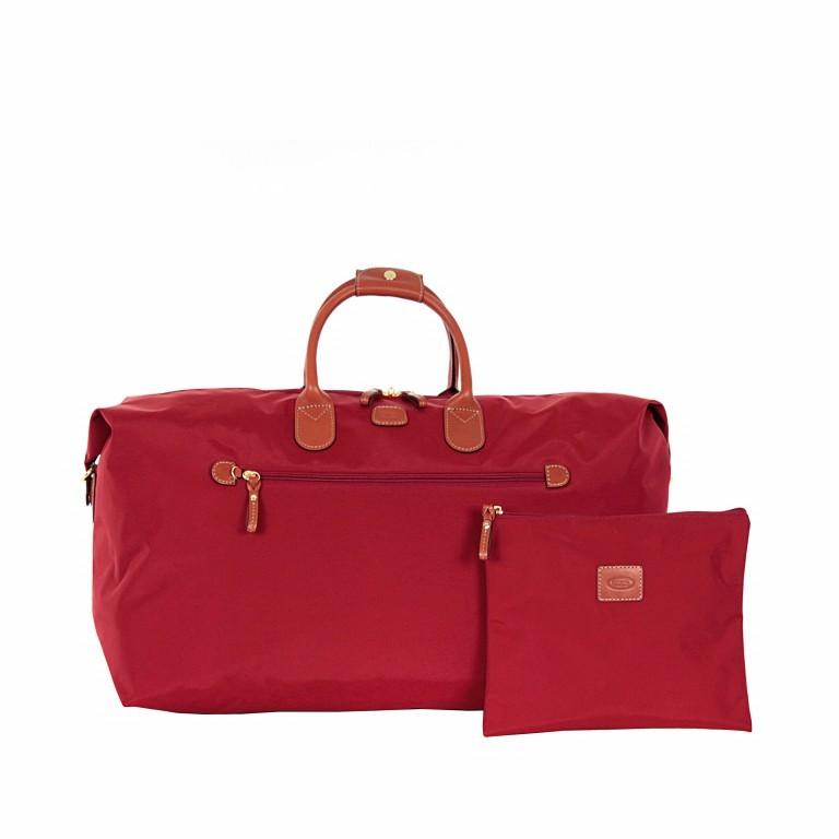 Brics X-Travel 2 in 1 Reisetasche Kurzgriff BXL30202 Rot, Farbe: rot/weinrot, Marke: Brics, Abmessungen in cm: 55.0x32.0x20.0, Bild 3 von 6