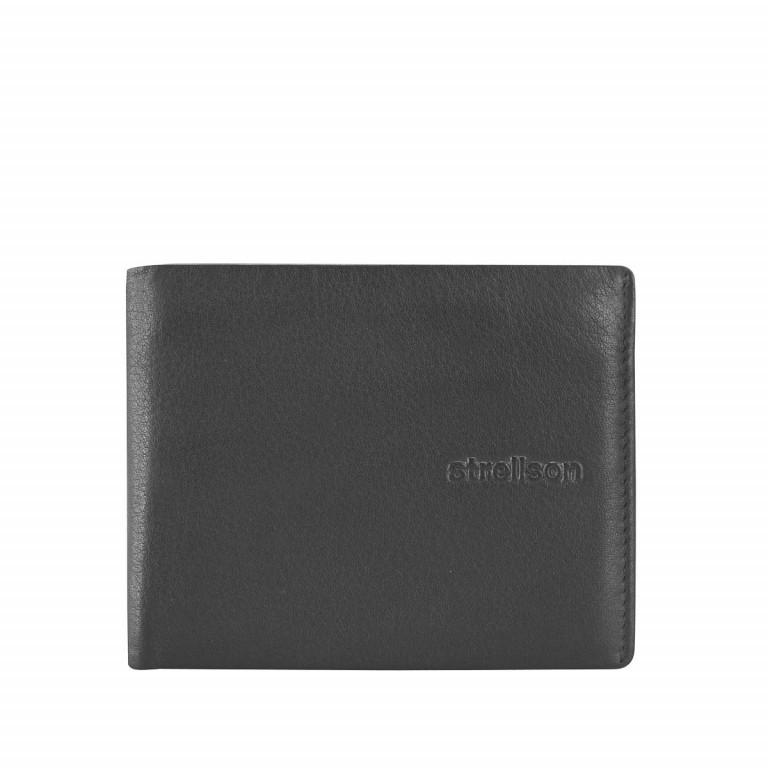 Strellson Carter Billfold H4 Herrenbörse Leder Schwarz, Farbe: schwarz, Marke: Strellson, EAN: 4053533067510, Abmessungen in cm: 11.0x8.5x1.0, Bild 1 von 2