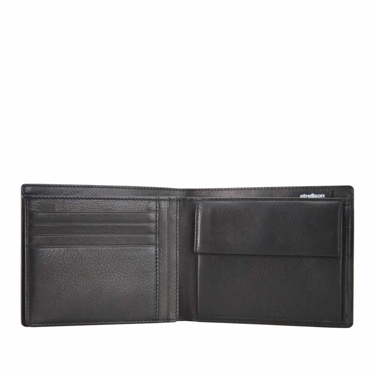 Strellson Carter Billfold H8 Herrenbörse Leder Schwarz, Farbe: schwarz, Marke: Strellson, EAN: 4053533067565, Abmessungen in cm: 12.5x10.0x2.0, Bild 2 von 2