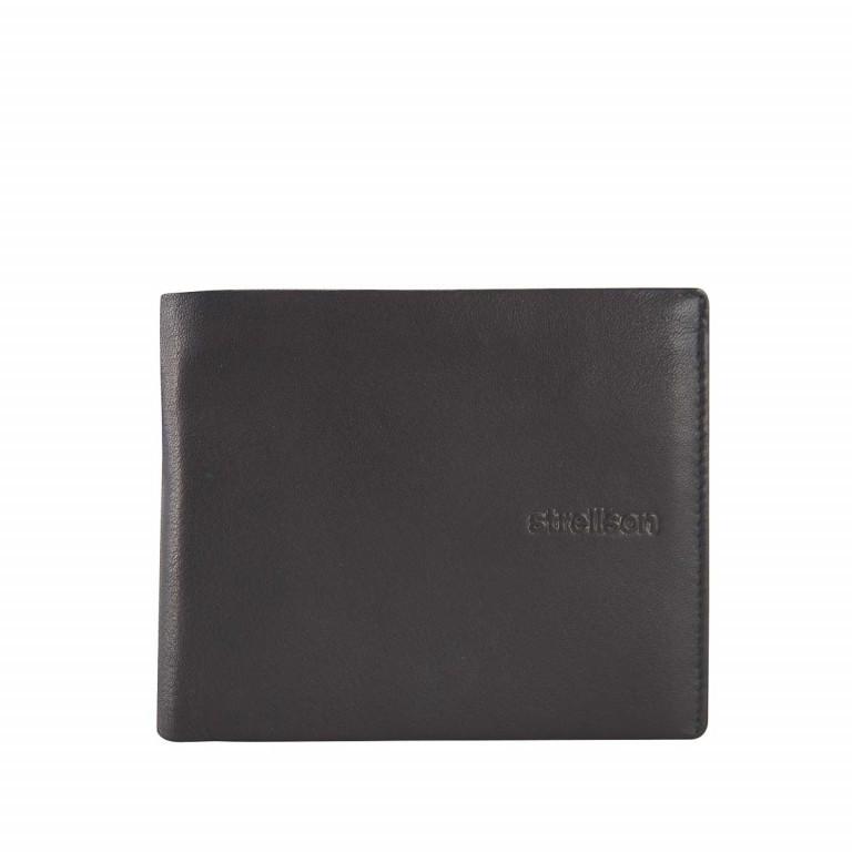 Strellson Carter Billfold H8 Herrenbörse Leder Schwarz, Farbe: schwarz, Marke: Strellson, EAN: 4053533067565, Abmessungen in cm: 12.5x10.0x2.0, Bild 1 von 2