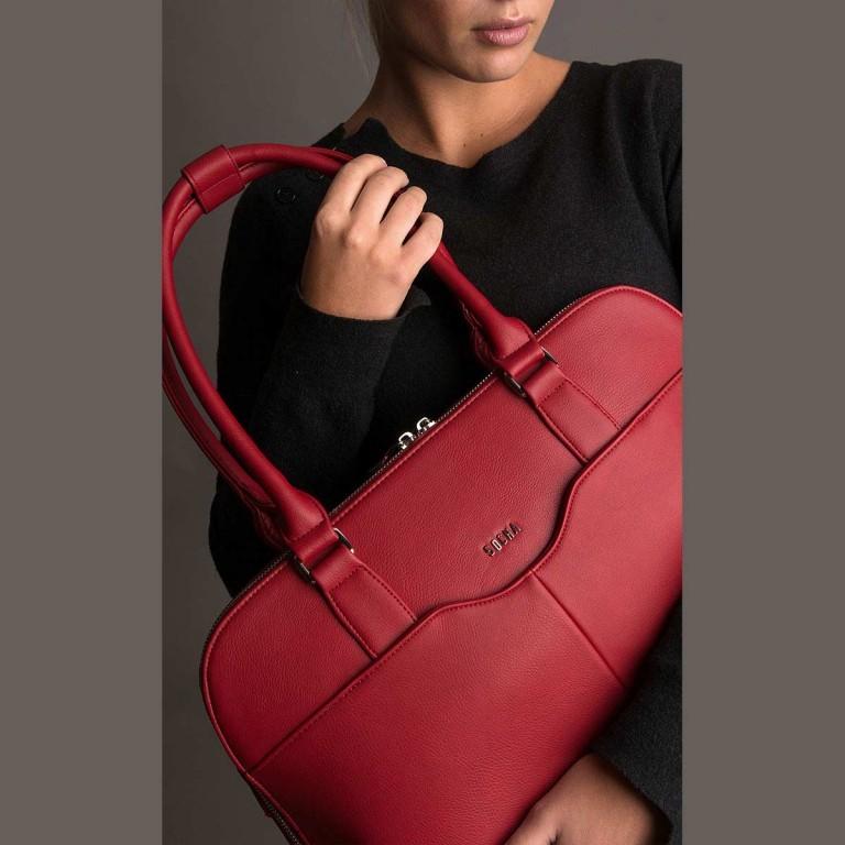 Socha Business Bag Couture Rouge, Farbe: rot/weinrot, Marke: Socha, EAN: 4029276048178, Abmessungen in cm: 44.5x32.5x14.0, Bild 5 von 5