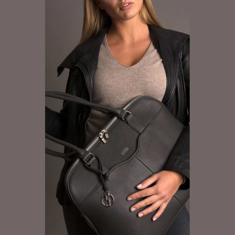 Socha Business Bag Couture Taupe Gris, Farbe: grau, Marke: Socha, EAN: 4029276048345, Abmessungen in cm: 44.5x32.5x14.0, Bild 6 von 6