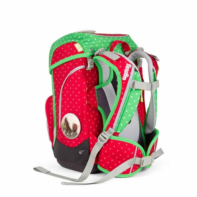Ergobag Cubo Schulranzen-Set 5-teilig GaloppBär, Farbe: grün/oliv, rot/weinrot, Marke: Ergobag, EAN: 4260389766997, Abmessungen in cm: 25.0x40.0x20.0, Bild 4 von 5