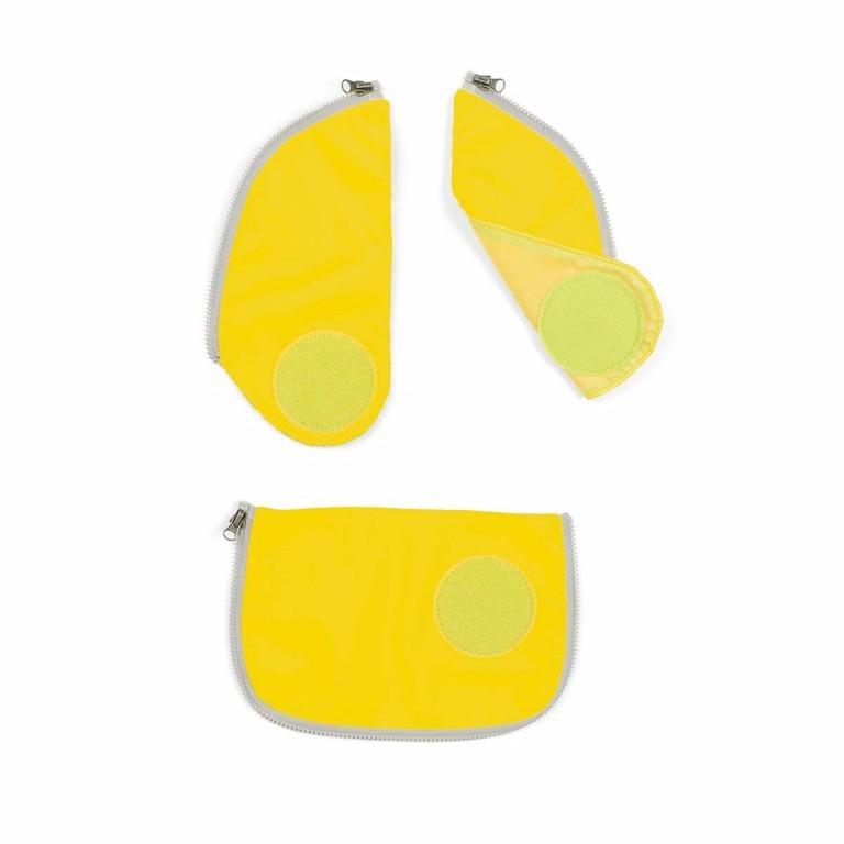 Ergobag Cubo Sicherheitsset Gelb, Farbe: gelb, Marke: Ergobag, EAN: 4057081001385, Bild 2 von 3