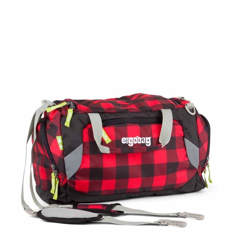 Ergobag Sporttasche BaggerfahrBär, Farbe: rot/weinrot, Marke: Ergobag, EAN: 4260389767420, Abmessungen in cm: 40.0x20.0x25.0, Bild 1 von 2
