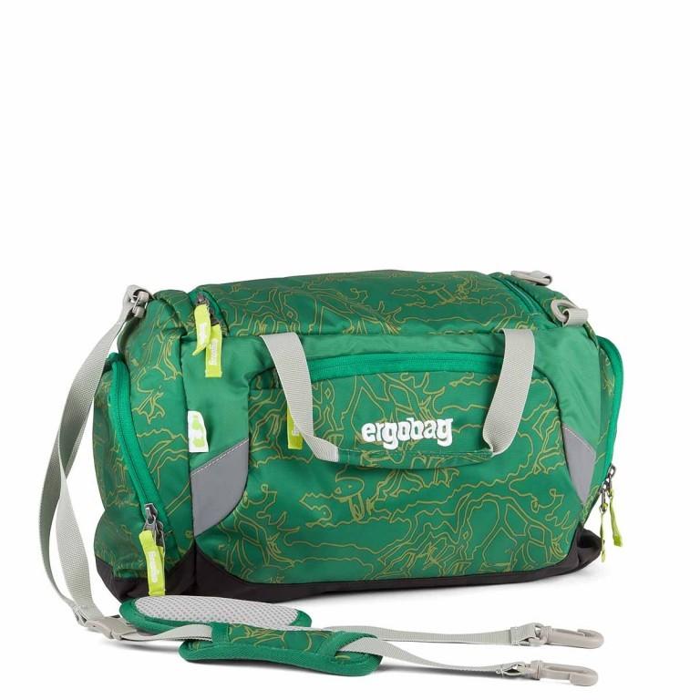 Ergobag Sporttasche DinosauriBär, Farbe: grün/oliv, Marke: Ergobag, EAN: 4260389767451, Abmessungen in cm: 40.0x20.0x25.0, Bild 1 von 2