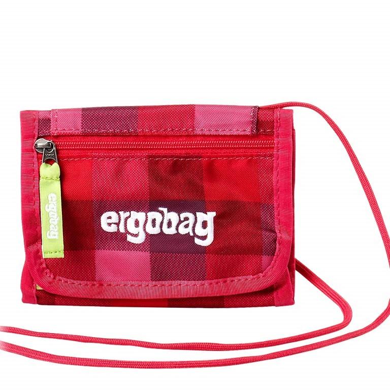 Ergobag Brustbeutel RhabarBär, Farbe: rot/weinrot, Marke: Ergobag, EAN: 4260217195821, Abmessungen in cm: 10.5x7.0x1.0, Bild 1 von 1