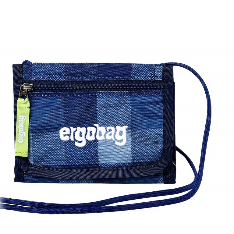 Ergobag Brustbeutel KaroalaBär, Farbe: blau/petrol, Marke: Ergobag, EAN: 4260217195869, Abmessungen in cm: 10.5x7.0x1.0, Bild 1 von 1