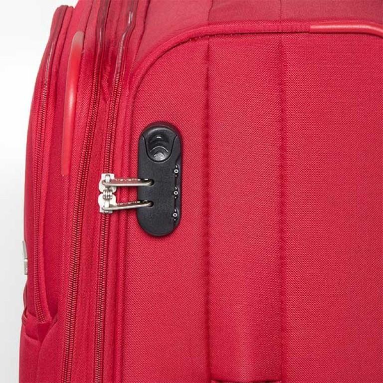 Travelite Flair 4-Rad Trolley 77cm Rot, Farbe: rot/weinrot, Marke: Travelite, Abmessungen in cm: 42.0x77.0x34.0, Bild 5 von 6