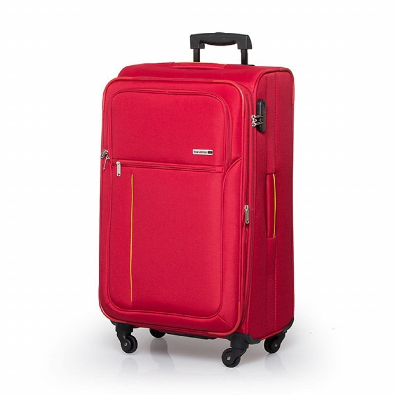 Travelite Flair 4-Rad Trolley 77cm Rot, Farbe: rot/weinrot, Manufacturer: Travelite, Dimensions (cm): 42.0x77.0x34.0, Image 1 of 6