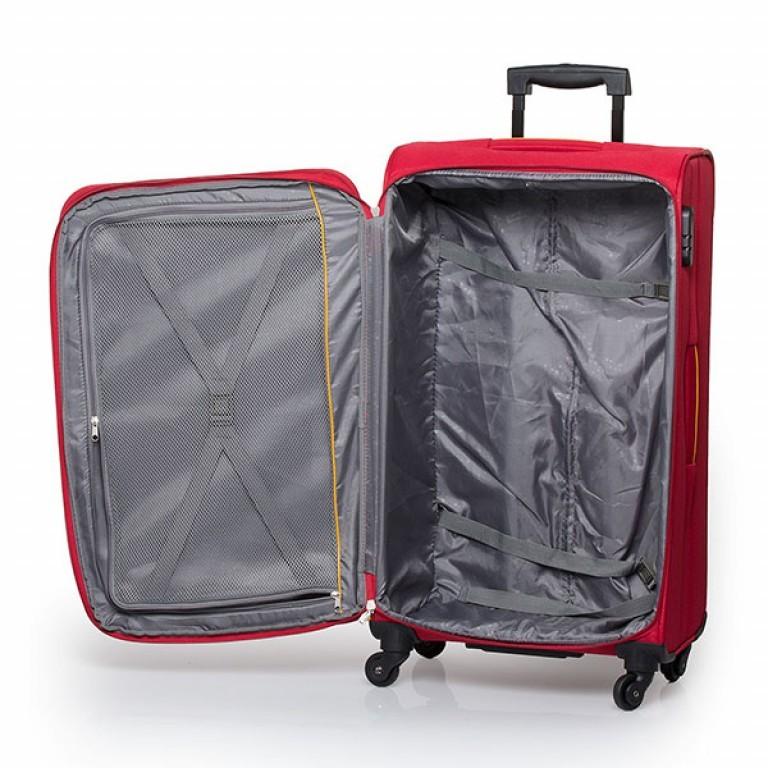 Travelite Flair 4-Rad Trolley 77cm Rot, Farbe: rot/weinrot, Marke: Travelite, Abmessungen in cm: 42.0x77.0x34.0, Bild 4 von 6
