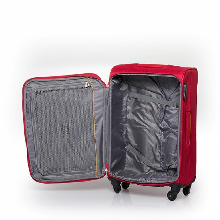 Travelite Flair 4-Rad Trolley 65cm Rot, Farbe: rot/weinrot, Marke: Travelite, Abmessungen in cm: 40.0x65.0x28.0, Bild 4 von 6